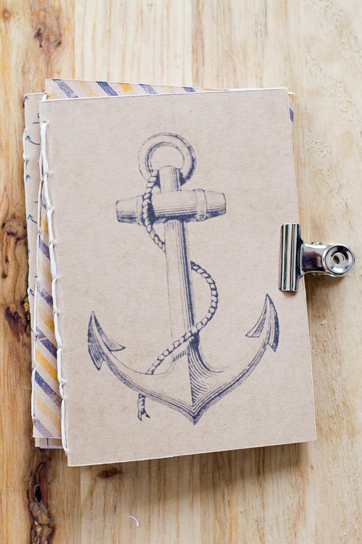 Diy des petits carnets cachemire soie - Dessiner une ancre marine ...